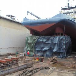 Dry dock works